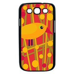 Yellow bird Samsung Galaxy S III Case (Black)