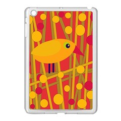 Yellow bird Apple iPad Mini Case (White)