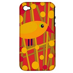 Yellow bird Apple iPhone 4/4S Hardshell Case (PC+Silicone)