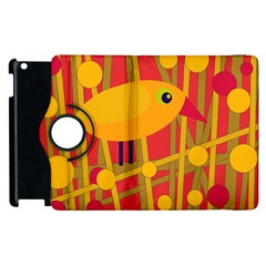 Yellow bird Apple iPad 3/4 Flip 360 Case