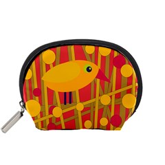 Yellow bird Accessory Pouches (Small)