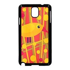 Yellow bird Samsung Galaxy Note 3 Neo Hardshell Case (Black)