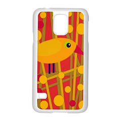 Yellow bird Samsung Galaxy S5 Case (White)