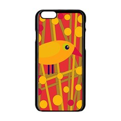 Yellow bird Apple iPhone 6/6S Black Enamel Case