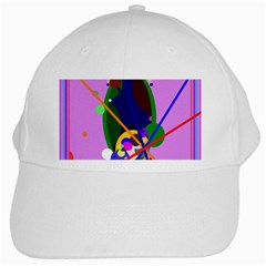 Pink artistic abstraction White Cap
