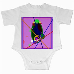 Pink artistic abstraction Infant Creepers