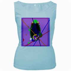 Pink artistic abstraction Women s Baby Blue Tank Top