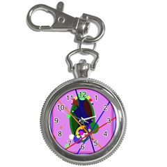 Pink artistic abstraction Key Chain Watches