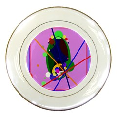 Pink artistic abstraction Porcelain Plates