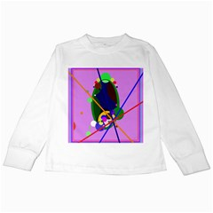 Pink artistic abstraction Kids Long Sleeve T-Shirts
