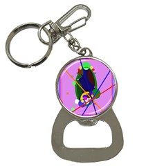 Pink artistic abstraction Bottle Opener Key Chains