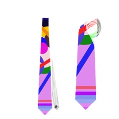 Pink artistic abstraction Neckties (One Side)