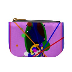 Pink artistic abstraction Mini Coin Purses