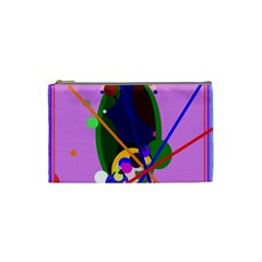 Pink artistic abstraction Cosmetic Bag (Small)