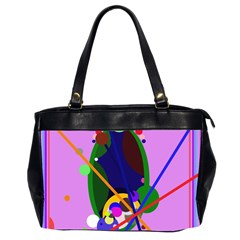 Pink artistic abstraction Office Handbags (2 Sides)