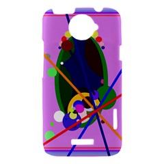 Pink artistic abstraction HTC One X Hardshell Case