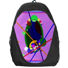 Pink artistic abstraction Backpack Bag