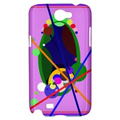 Pink artistic abstraction Samsung Galaxy Note 2 Hardshell Case