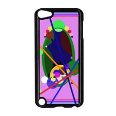 Pink artistic abstraction Apple iPod Touch 5 Case (Black)