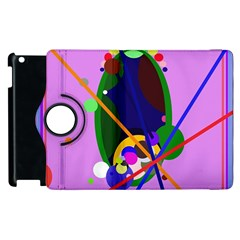 Pink artistic abstraction Apple iPad 3/4 Flip 360 Case