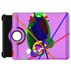 Pink artistic abstraction Kindle Fire HD Flip 360 Case