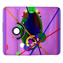 Pink artistic abstraction Samsung Galaxy Note II Flip 360 Case
