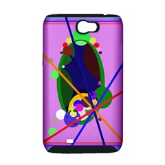 Pink artistic abstraction Samsung Galaxy Note 2 Hardshell Case (PC+Silicone)