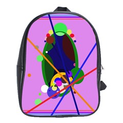 Pink artistic abstraction School Bags (XL)