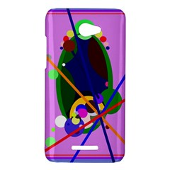Pink artistic abstraction HTC Butterfly X920E Hardshell Case