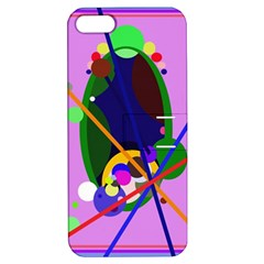Pink artistic abstraction Apple iPhone 5 Hardshell Case with Stand