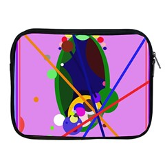 Pink artistic abstraction Apple iPad 2/3/4 Zipper Cases