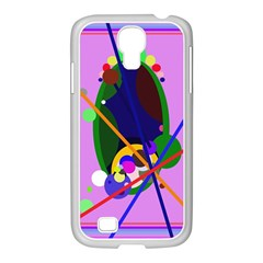 Pink artistic abstraction Samsung GALAXY S4 I9500/ I9505 Case (White)