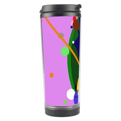 Pink artistic abstraction Travel Tumbler