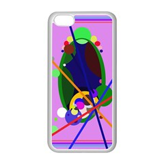 Pink artistic abstraction Apple iPhone 5C Seamless Case (White)
