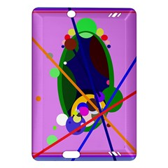 Pink artistic abstraction Amazon Kindle Fire HD (2013) Hardshell Case
