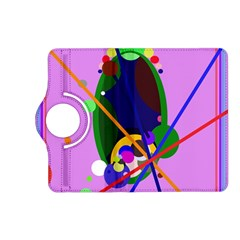 Pink artistic abstraction Kindle Fire HD (2013) Flip 360 Case
