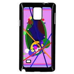 Pink artistic abstraction Samsung Galaxy Note 4 Case (Black)