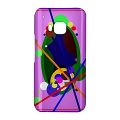 Pink artistic abstraction HTC One M9 Hardshell Case