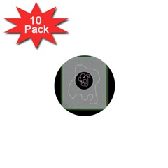 Gray abstract art 1  Mini Buttons (10 pack)
