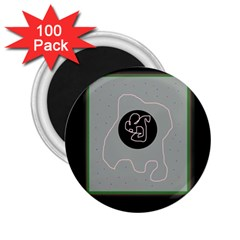 Gray abstract art 2.25  Magnets (100 pack)