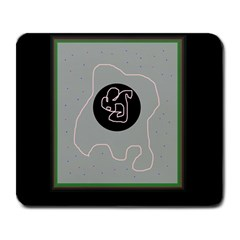 Gray abstract art Large Mousepads