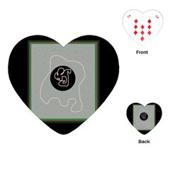 Gray abstract art Playing Cards (Heart)