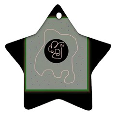 Gray abstract art Star Ornament (Two Sides)