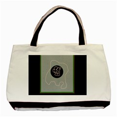 Gray abstract art Basic Tote Bag (Two Sides)