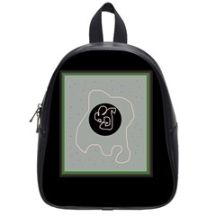 Gray abstract art School Bags (Small)