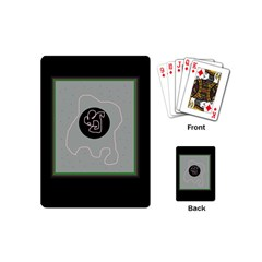 Gray abstract art Playing Cards (Mini)