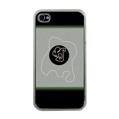 Gray abstract art Apple iPhone 4 Case (Clear)