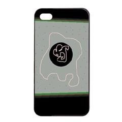 Gray abstract art Apple iPhone 4/4s Seamless Case (Black)