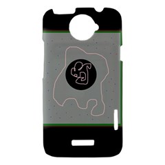 Gray abstract art HTC One X Hardshell Case