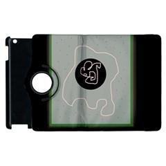 Gray abstract art Apple iPad 2 Flip 360 Case